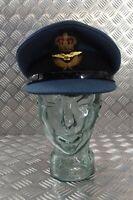 Genuine Vintage Royal Air Force RAF M Bros Officers No1 SD Dress Hat Size 7 57