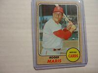 1968 TOPPS ROGER MARIS ST. LOUIS CARDINALS #330 EX=MT