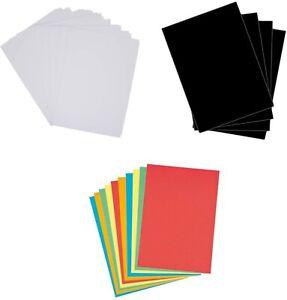 A4 160gsm/180gsm/220gsm Coloured Medium Activity Craft Card Pack