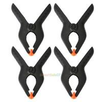 """4PCS 6"""" inch Plastic Nylon Spring Clamps Clip Tips Set Tool Large Clips 4"""" Jaw"""