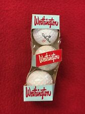 Vintage Worthington Les Strokes Golf Balls (3) Unused Original Box Super Rare!