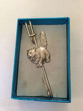 "Persian Cat Pp-C00 Pewter Emblem on a Kilt Pin Scarf or Brooch 3"" 7.5 cm"