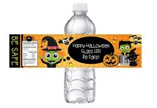 HALLOWEEN PARTY, BIRTHDAY OR  CLASS PARTY FAVORS WATER BOTTLE LABELS WRAPPERS #4