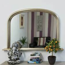 Large Silver Over Mantle Big Overmantle Big Wall Mirror 4Ft X 2Ft7 120cm X 79cm