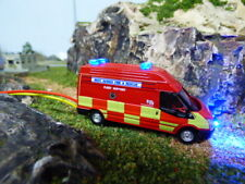 Oxford 1/76 OO Fire service fleet maintainance transit with flashing lights