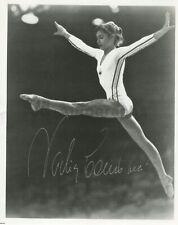 Nadia Comaneci - Olympic Gymnastics Champion - Signed 8x10 Photograph