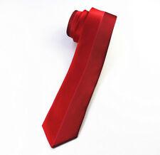 Rouge à motif fait à la main 100% soie Skinny Cravate Mariage