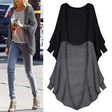 Fashion Women's Loose Coats Cardigan Knitted Sweater Knitwear Outwear Jumper AU