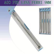 2 Ferri Per Maglia Numero 9,00 Con Pomolo 30 Cm 30cm Lana Alluminio Pomoli dfh