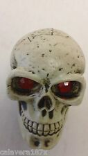 Demon Red Ruby Eye Dead Head Skull Shift Knob Zombie Solid Resin Car Gear Lever