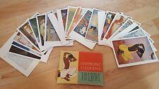 1963 souvenir picture cards in folder Indian art