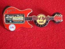 HRC Hard Rock Cafe Madrid Rockn Roll Race Guitar 2012 LE300