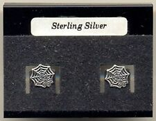 Spider Web Sterling Silver 925 Studs Earrings Carded