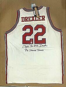 Clyde Drexler Signed UH Jersey PSA/DNA Houston Cougars J87614