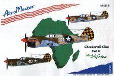 CLEARANCE! - NEW 1:48 Aeromaster 48216 Curtiss P-40L Warhawk Checker Tail Clan