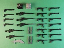 Guns for Lego Minifigures. Lot of 30. New!! Sniper Rifle Lightsabers Accessories