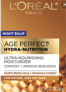 L'Oreal Paris Age Perfect Hydra-Nutrition Night Balm Manuka Honey 1.7 oz. NIB