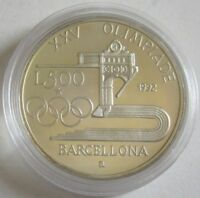 Italien 500 Lire 1992 Olympia Barcelona Silber PP