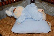 Nicotoy Belgium Baby Boy Bunny on Pillow Music Box Plays Hush Little Baby New