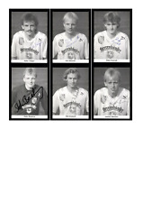 Autogrammkartensatz TSV Havelse 1990-91 6 Karten Original Signiert(1116)