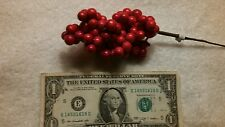 12 Red Berry Picks Large Cluster Floral  Christmas Decor  FREE SHIPPING