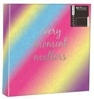 """Vintage Stripe Photo Album 200 4x6/"""" 104 5x7/"""" 80 4x6/"""" Photos or Self Adhesive"""