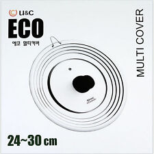 U&C Eco MultiPurpose Cover Pot Frypan Tempered Glass Cookware Keep warm Kitchen