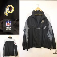 Mens Reebok NFL American Football Washington Redskins Black Jacket Large 50' G41