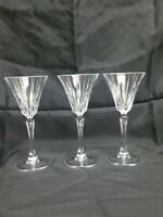 3 Elegant Crystal Wine/Champagne Glass