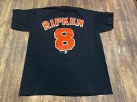 VTG 1999 Cal Ripken Jr. Baltimore Orioles Men's Black T-Shirt - Large