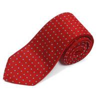 BROOKS BROTHERS Suave Red Blue Square Lattice Men's Silk Neck Tie