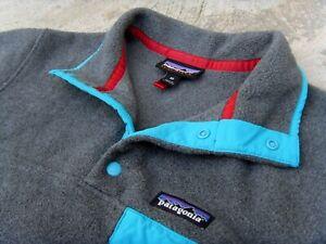 PATAGONIA Synchilla Snap-T pullover fleece Jacket women's Sz XS dark gray