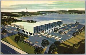 Cranston, Rhode Island Postcard COLONY MOTOR HOTEL Artist's View c1960s Chrome