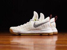 Nike KD IX 9 Estate Bianco Argento GUM UK 7.5 US8.5 Kyrie Eleison Lebron Jordan Kobe Elite