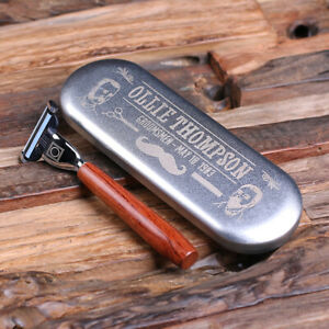 Personalised Shaver Razor with Tin Case - Gift for Him Men Christmas Birthday