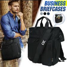 Men Business Briefcases Handbag Laptop Shoulder Bag Messenger Travel Tote