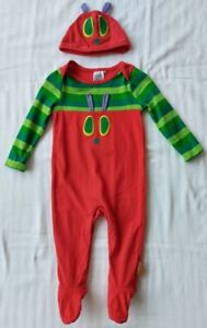 The Very Hungry Caterpillar All-in-One, Babygro and Hat Set 9-12M