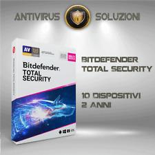 Bitdefender Total Security 2020 10 Dispositivi 2 Anni Account Centrale + VPN