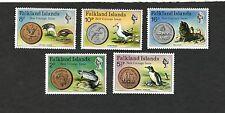 1974 Falkland Islands SC #245-249 ALBATROSS TROUT SEA LION GOOSE PENGUIN MNH