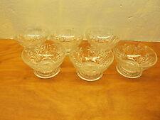 set of 6 pressed glass sherbet cups vintage