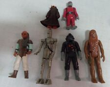 Six Vintage 1980's Star Wars Action Figures Weequay Jawa Chewbacca Snaggletooth