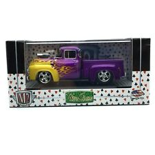 M2 Machines Wild Cards 1956 56 Ford F-100 Pickup Truck Purple Diecast 1/64 Scale