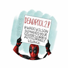 """1 1/2"""" Customized Designed Marvel's Deadpool 2 Pinback Button (FREE US SHIPPING)"""