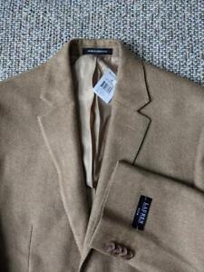 new RALPH LAUREN blazer HERRINGBONE lightweight tweed 38R light brown SLIM nwt