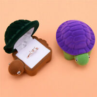 Cute Turtle Jewelry Storage Box Velvet Earrings Ring Holder Storage Gift Case tx