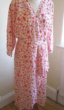 1980s DRESS Vintage Retro RED WHITE RUFFLE SPRING DRESS Sz 14