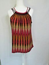 Axcess Women's Sleeveless Multi Color Tank Top Size M