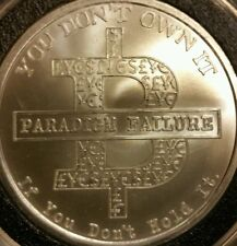 Bitcoin Paradigm 1 oz .999 silver shield BITCON SBSS no longer minted bitcoin