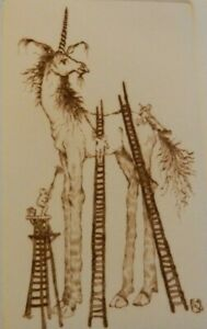 Signed, Numbered, Limited Edition Drypoint Etching - Allan Reid's Unicorn 51/150