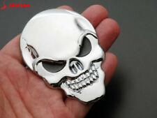 8cm Metal 3D Full Stainless Steel Emblem Skull/Skeleton/Reaper Sticker Chrome